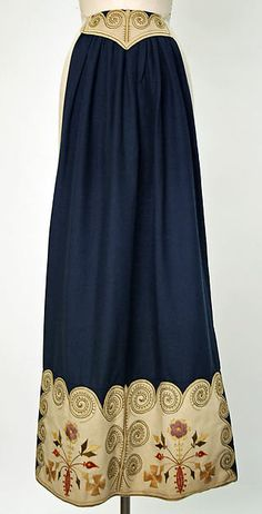 Apron Date: 1900–1940 Culture: Swedish Medium: wool