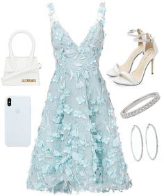 Discover outfit ideas for Virtual Prom Style made with the shoplook outfit maker. How to wear ideas for iPhone X Silicone Case and Crystal Hoop Earrings Simple Outfits, Simple Dresses, Classy Outfits, Chic Outfits, Pretty Dresses, Short Dresses, Fashion Outfits, Formal Dresses, Prom Outfits