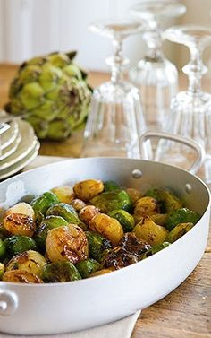 Honungs- och svartpepparglaserad brysselkol Sprouts, Lunch, Vegetables, Food, Meal, Lunches, Eten, Vegetable Recipes, Brussels Sprouts
