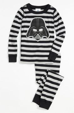 Hanna Andersson 'Vader' Two Piece Fitted Organic Cotton Pajamas (Toddler) available at Nordstrom