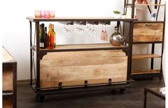 Bar Miliboo promo bar pas cher, Bar design industriel bois massif INDUSTRIA prix promo Miliboo 699,00 € TTC Prix conseillé : 789 € soit -11%