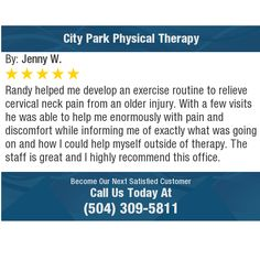 Randy helped me develop an exercise routine to relieve cervical neck pain from an older...