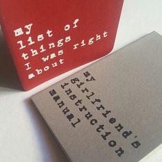 Valentine's day notebooks!  #valentines #valentinesday #valentinesdaygift #valentinesgift #funny #funnyquote #funnygift #funnyvalentines #stationery #moleskine #midcenturymodern #vintage #sixties #retro #typographic #typewriter #type