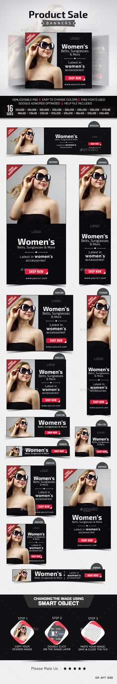 Product Sale Banners - Banners & Ads Web Template PSD. Download here: http://graphicriver.net/item/product-sale-banners/10289629?s_rank=1230&ref=yinkira