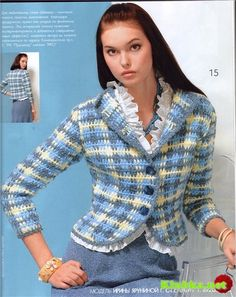 Crochet jacket with chart and pattern