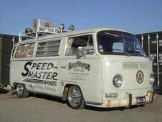 Awesome slammed bay with signwriting.
