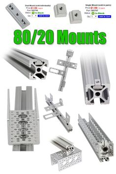 Easily attach Actobotics components to 80/20 using our NEW 80/20 mounts!
