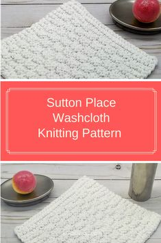 Sutton Place dishcloth/washcloth features a highly textured pattern that uses a variation of the moss stitch. Easy knit purl repeats makes for a relaxing knit yet beautiful cloth. Love Knitting Patterns, Dishcloth Knitting Patterns, Knitting Stitches, Sewing Patterns, Crochet Patterns, Knit Purl, How To Purl Knit, Knitting Projects, Knitting Ideas