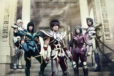 First pic up, full group Saint Seiya Legend of Sanctuaryfrom left to rightSusan (ycysusan) as HyogaOkageo - ShiryuJunkers Cosplay Inc. as SeiyaYuks General as ShunLionel as Ikki Tobi Cosplay, Best Cosplay, Awesome Cosplay, Expo Anime, Pegasus Seiya, Real Anime, Cosplay Armor, Akatsuki, Game Character