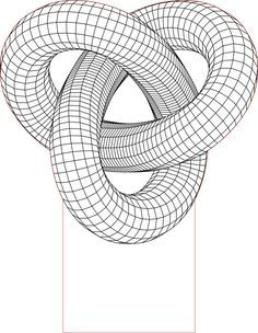 Acrile LED Torus knot 3D illusion lamp vector file