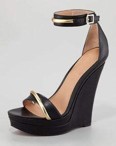 Onlymaker Damenschuhe High Heels Open Freie Toe Wedge Sandale mit Metallklette: Amazon.de: Schuhe & Handtaschen