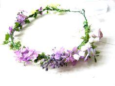 Haarschmuck & Kopfputz - Blumenkranz Hochzeit Brautkrone - ein Designerstück von BLOOMIG bei DaWanda