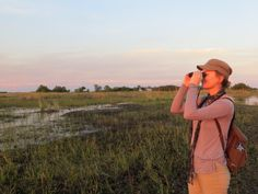 Bring binoculars since this is a bird's paradise -- over 240 different species inhabit the #OkavangoDelta.  #Botswana, #Africa