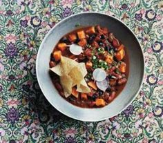 Slow-Cooker Vegetarian Chili With Sweet Potatoes Recipe | Real Simple Mobile