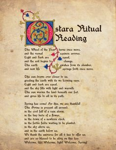 Ostara Ritual Reading May want to change a few lines or words but really pretty good. Wiccan Sabbats, Wicca Witchcraft, Pagan Witch, Witches, Purple Candles, Vernal Equinox, Practical Magic, Beltane, Book Of Shadows