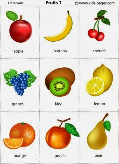 Kids Pages - Fruits 1