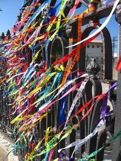Salvador , Bahia, Brazil | Bonfim wish ribbons