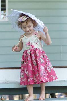 Tadah! Tea Party dress pattern - scoop neckline