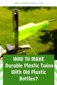 Have you ever needed quick access to some rope or twine around the home but not had any on hand? At that point, what would be easier: making a trip to the local hardware store, or taking a plastic bottle from your recycling bin and quickly making your own? Learn How to make durable plastic twine with old plastic bottles | Recycling Plastic Bottles | Reusing Plastic Bottles | #recycle #plasticbottle #upcycle #reuse #DIYplasticbottle