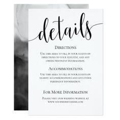 Modern We Do Wedding Details Card - wedding invitations cards custom invitation card design marriage party