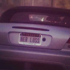 Her loss License Plates, Vehicles, Car, Car License Plates, Automobile, Number Plates, Autos, Cars, Licence Plates