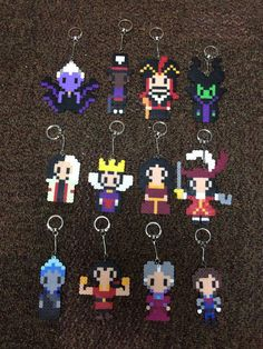 Disney Villain Pixel Keychains, $6.00 Each | 17 Wicked Gifts For The Disney Villain In Your Life