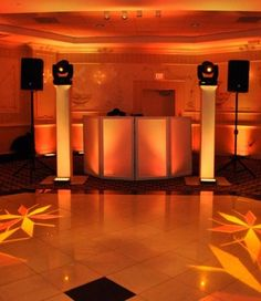 wedding venue, lit by Spinners Entertainment out of West Orange, NJ