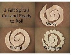 Spirals Cut - 3 Different edges                                                                                                                                                      More