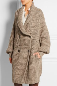 Chloé | Oversized ribbed wool-blend cardigan | NET-A-PORTER.COM