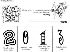 New Year Foldable for 2013 and 2014 {freebie} - Rachel Lamb - TeachersPayTeache. Too Cool For School, School Fun, School Days, School Stuff, School 2013, High School, New Years Activities, Classroom Activities, Classroom Ideas