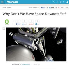http://mashable.com/2013/05/29/space-elevators/ Why Dont We Have Space Elevators Yet? | #Indiegogo #fundraising http://igg.me/at/tn5/