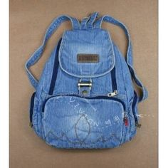 Denim Backpack, School Bags, Backpacks, Stone, Diy, Fashion, Moda, Rock, Bricolage