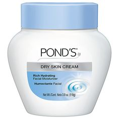 GOOD MAKEUP REMOVER Ponds cold cream cleanser, Cold Cream Cleanser is actually moisturizer. It deep cleans and removes dirt and makeup, even stubborn waterproof mascara. Cream For Dry Skin, Skin Cream, Eye Cream, Facial Cleanser, Moisturizer, Bb Beauty, Beauty Tips, Natural Beauty, Humectant
