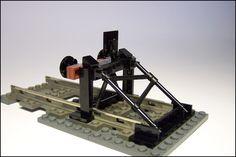 All sizes | Steel buffer-stop | Flickr - Photo Sharing! Lego Train Station, Lego Train Tracks, Lego City Train, Lego Track, Lego Plane, Lego Bridge, Lego Ship, Lego Boards, All Lego