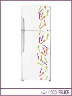 Vinilos decorativos cocina heladera personalizados deco - Vinilos para cocina ...