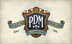 Retro and vintage style logo design for plumbing, heating and air company near Chicago, IL.