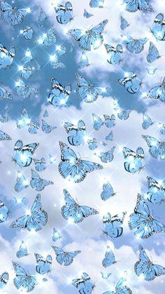 Fond écran [Video]   Butterfly wallpaper, Blue butterfly wallpaper, Iphone wallpaper sky