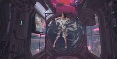 Cyberpunk scene Bath 2077 by klaus wittmann Cyberpunk 2077, Cyberpunk Kunst, Space Opera, The Wicked The Divine, Cyberpunk Aesthetic, Neon Aesthetic, House Drawing, Shadowrun, Sci Fi Fantasy