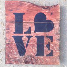 Panneau tableau personnalisable en bois de palette vintage design