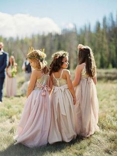 Buy A line Blush Pink Flower Girl Dresses with Sash Gold Top Dresses for Kids in uk. Find the perfect flower girl dresses at PromDress. Our flower girl dresses come in a variety of styles & colors including lace, tulle, purple & gold Flower Girl Dresses Country, Sequin Flower Girl Dress, Pink Flower Girl Dresses, Girls Dresses, Blush Dresses, Bohemian Flower Girls, Bridesmaid Dresses For Girls, Beach Flower Girls, Flower Girl Headpiece