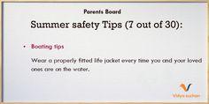 Summer safety tips (tip 7)
