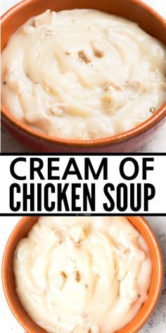Easy Homemade Cream of Chicken Soup Recipe. Can easily be made dairy free, recipe is also gluten free. www.noshtastic.com Gluten Free Soup, Gluten Free Dinner, Gluten Free Cooking, Gluten Free Recipes, Dairy Free, Homemade Cream Of Chicken Soup Recipe, Chicken Soup Recipes, Low Carb Soup Recipes, My Recipes