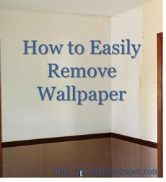 There are few home renovation projects discussed with as much distaste as removing wallpaper. If you have ever tackled this task or know someone who did, it appears that this may be one of the most hated jobs for the DIY home improver. Diy Wallpaper, Removing Wallpaper, Amazing Wallpaper, Home Improvement Projects, Home Projects, Home Renovation, Home Remodeling, Kitchen Decorating, Decorating Ideas