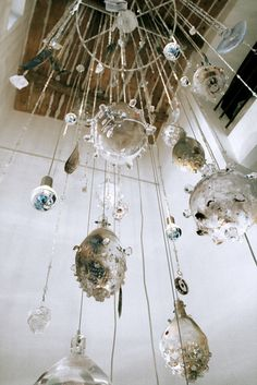 blown glass cascading mobile - Ans Bakker - Droomjuweel
