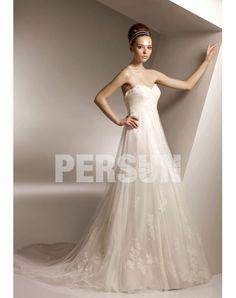 2012 Ruching Lace Sweetheart Tulle A-line Beige Wedding Dress Sale Online - DRESSESMALL $190
