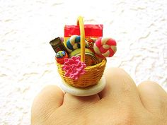 Kawaii Food Ring Candy Gift Basket by SouZouCreations on Etsy
