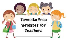 Favorite Free Websites for Teachers! Over 5 pages of recommendations can be downloaded in PDF form with clickable links to the sites.
