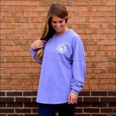 Southern Shirt Company V-Neck Jersey Lavender size Large Southern Shirt Company V-Neck jersey! Worn only a handful of times Southern Shirt Company Tops Sweatshirts & Hoodies