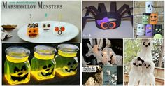 31 Halloween  kid crafts fun! My little one is going to love #9!