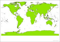 Giant world map picture for display (SB10087) - SparkleBox